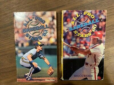 2 Vintage All-Pro Baseball Stars books '80 and'83 by BruceWeber