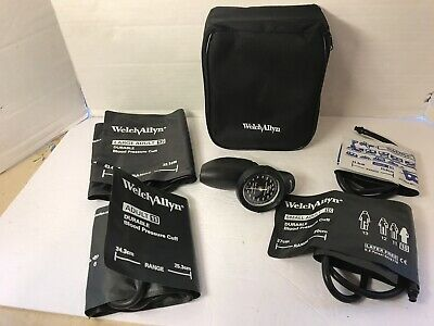 Tycos Welch Allyn Hand Aneroid Sphygmomanometer & 4 Cuffs Child, Adult, Max Size