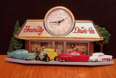 Vintage Coca Cola Family Drive In Wall Clock #2899 Made In Usa