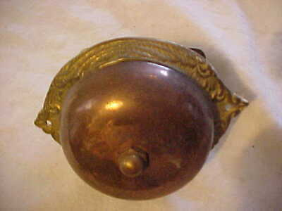 "Antique Victorian Cast Brass Door Bell Lever Mechanism 5-1/2"" Long"