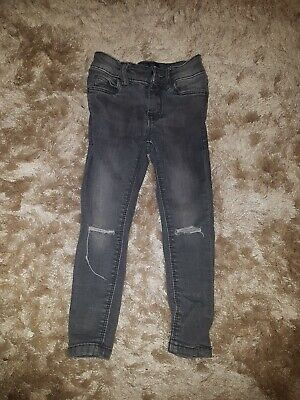 Boys Age 4 Ripped Style Grey Jeans From Next