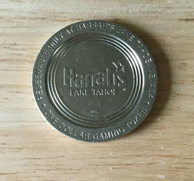 Lake Tahoe NV - Harrah's - $1 Casino Chip / Coin