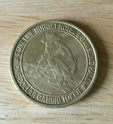 Wendover NV - State Line Nugget Gambling Hall $1 Chip / Coin