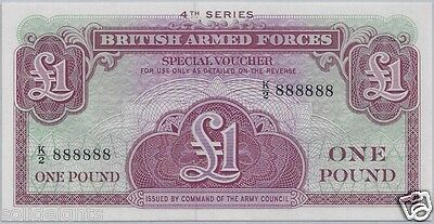 EBS British Armed Forces 1 Pound 1962 4th Series Banknote UNC Pick M36