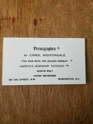 Dermagraphics by Carol Nightingale Tattoo Business Cards
