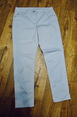 Straight Fit Ladies sky blue Chino Trousers  98% Cotton, 2% Elastane. New