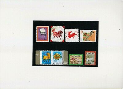 """Taiwan, Macau, Canada, 1978-2002, """"Year Of Horse"""" 6 Differ Stamp Sets. Mint Nh"""