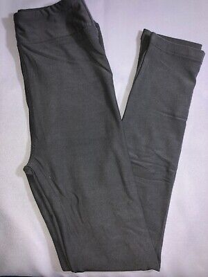 LuLaRoe Kids L/XL Leggings NWT Solid Gray Fits Sizes 8-12