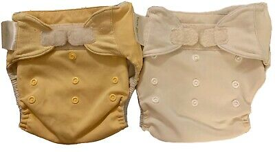 Bum Genius Adjustable Hook & Loop Reusable Washable Baby Cloth Diaper Lot of 2