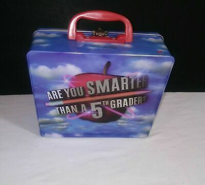 Are You Smarter Than a 5th Grader Card Game In Lunch Box Cardinal (COMPLETE)