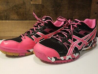WOMEN'S ASICS GEL 1140V Size 11 Black Volleyball Sneakers
