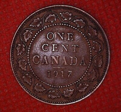 1917 Copper Canadian Large Cent Coin 1-Cent Canada
