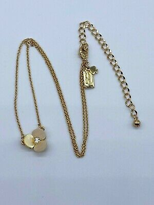 Kate Spade New York Gold Tone Disco Pansy Pendant Necklace