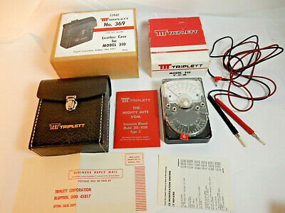 New Triplett Model 310 Type 3 VOM The Mighty Mite with NEW Leather Case Made USA