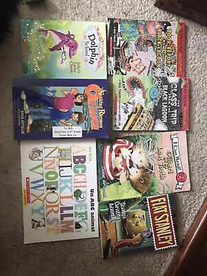 Lot of 7 Childrens Reading Bedtime-Story Time Kids BOOKS RANDOM MIX UNSORTED