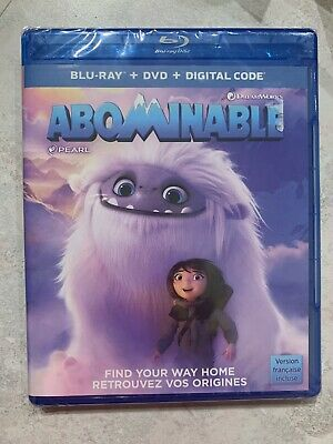 NEW Abominable Blu-Ray & DVD & Digital Code  Canada En Fr SEALED