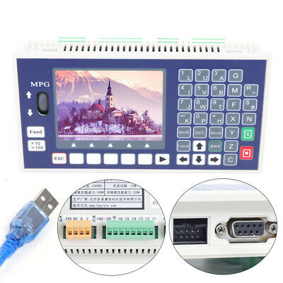 4 Axis LCD CNC Motion Controller System Offline Servo Stepper 400KHz Lathe SALE