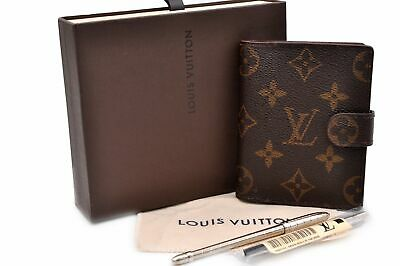 Auth Louis Vuitton Monogram Agenda Mini Day Planner Cover R20007 Box LV 91314