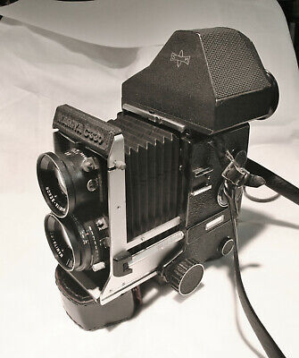Mamiya C330 Professional Camera with 80mm 2.8 Lens, and Porro & Waist finders