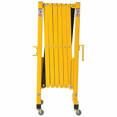 """16 to 141""""W Steel Portable Barricade Gate With Casters"""