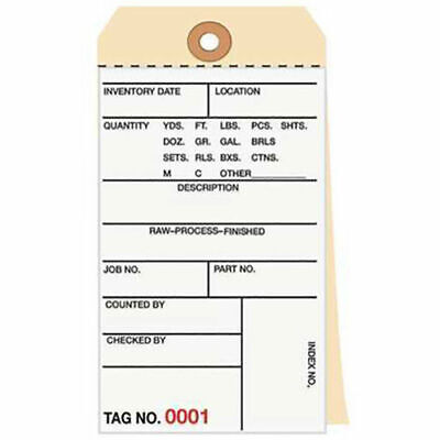 3 Part Carbonless Inventory Tag, 10000 - 10499, 500 Pack
