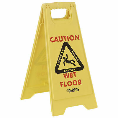 Multi-Lingual Floor Sign 2 Sided, Caution