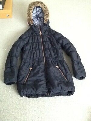 JOULES GIRLS COAT 11-12 warm padded quality coat navy blue