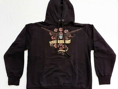 GUNS 'N' ROSES Hooded Sweatshirt Hoodie, New & Official, size L. Hard Rock