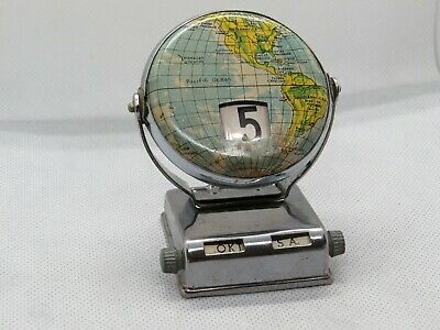 Globe Desk Calendar, Complete and working.*