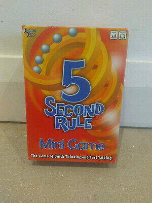 5 Second Rule Mini Game. Great Family Game