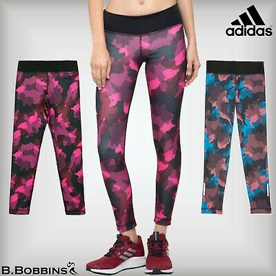 🔥 SALE - Adidas AOP Climalite® Girls Tights Age 5-6-7-8-9-10-11-12-13-14 Years