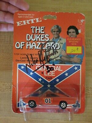 ERTL 1981 THE DUKES OF HAZZARD GENERAL LEE CAR #1581 SCALE 1/64  *Autographed*