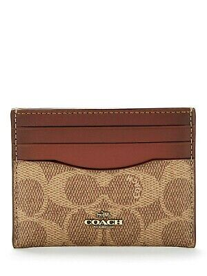 Coach Signature Leather Card Case Holder Wallet