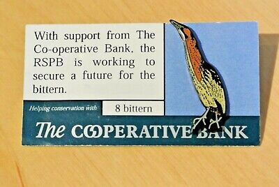 Rare RSPB Pin Badge – Cooperative Bank Bittern Numbered 8