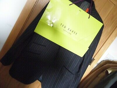 TED BAKER Endurance Stirling wool black chalk stripe suit JACKET  - 46R  Perfect
