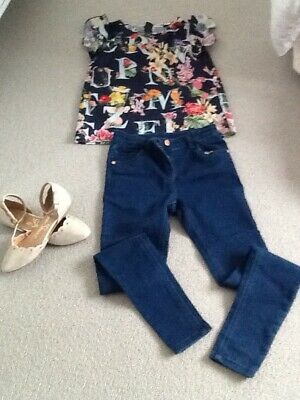 GIRLS AGE 10-12 outfit bundle Ted baker top , tu jeans party shoes gorgeous!