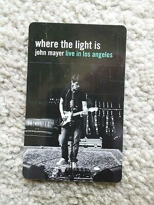 JOHN MAYER Where the Light Is MusicPass Music Card Collectible Not Activated