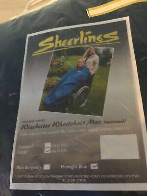 Sheerlines Winchester Wheelchair Mac / Coverall Unsleeved Waterproof Navy Large