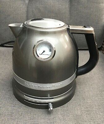 KitchenAid 1.5 Litre Kettle - Medallion Silver USED SPARE or REPAIR