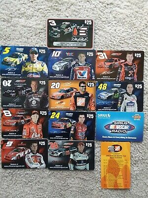 12 DIFFERENT 2006 NASCAR GIFT CARDS with a bonus! EARNHARDT No Value Collectible