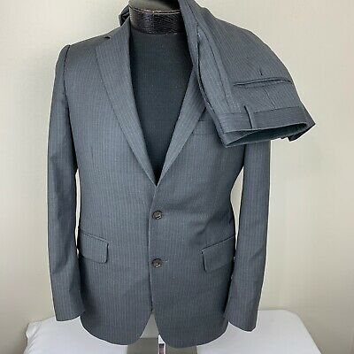Brooks Brothers Fitzgerald Wool Suit 38/32 R Made  Italy Gray Jacket & Pants