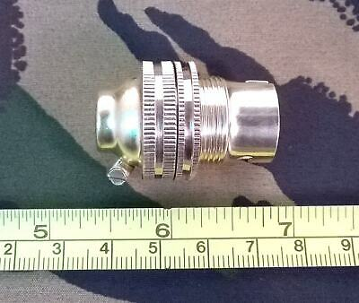 Brass Lampholder / Light Bulb Holder Small Bayonet Cap B15 10mm Entry