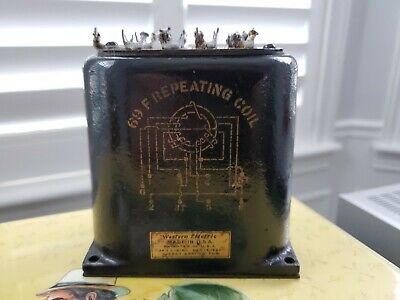 (1) RARE Western Electric 1930's 69F REP Repeating Coil Transformer
