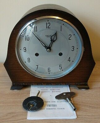 "1950-1 Smiths Enfield: The ""Devon"" Striking Mantel Clock – Overhauled & GWO"