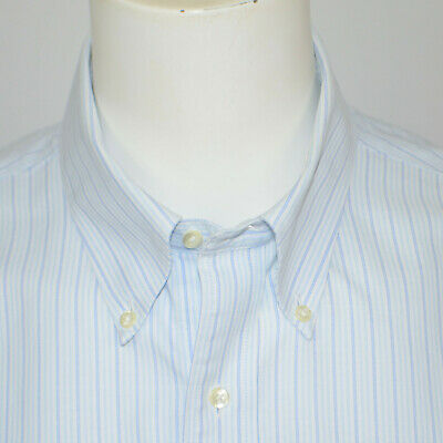 BROOKS BROTHERS Oxford Madison Regular Fit Non Iron Cotton Dress Shirt 17.5 - 33