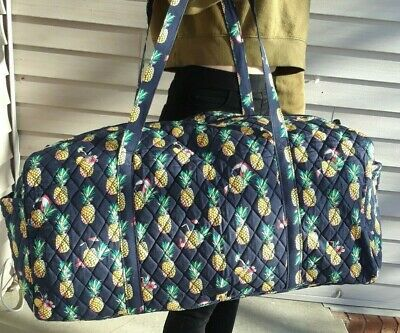 New 2020 Vera Bradley Large Duffel Traveler Bag Toucan Party Pineapple