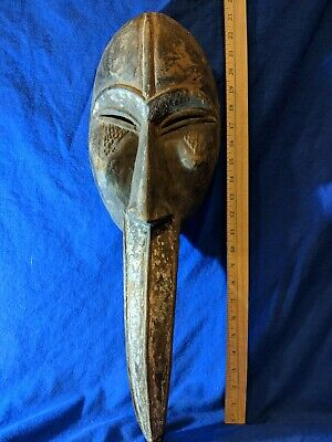 Large Beaked Toma Loma Mask from Liberia — Authentic Carved Wood African Art