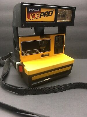 Vintage Polaroid Job Pro Construction Instant Film Camera 600 Yellow Untested