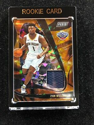 Panini Player Of The Day Zion Williamson Pelicans Cracked Ice Rookie Jersey 3/99