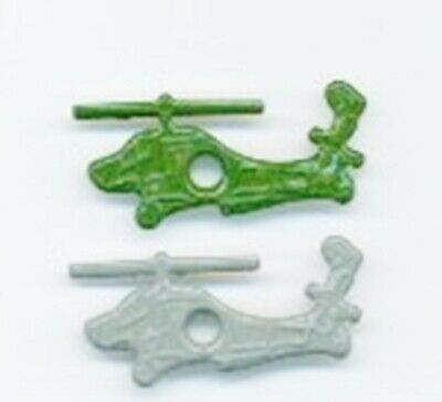 """HELICOPTER 1/8"""" Quicklets Eyelets 2 colors Military Scrapbooking Card Making"""